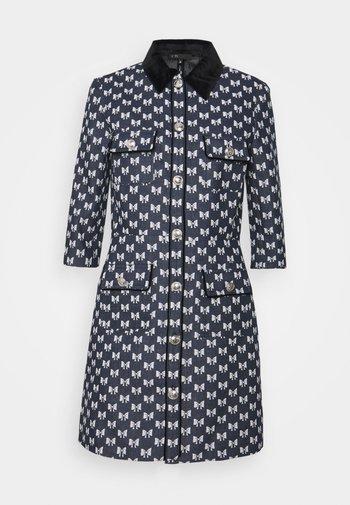 RENATILA - Shirt dress - nœuds marine