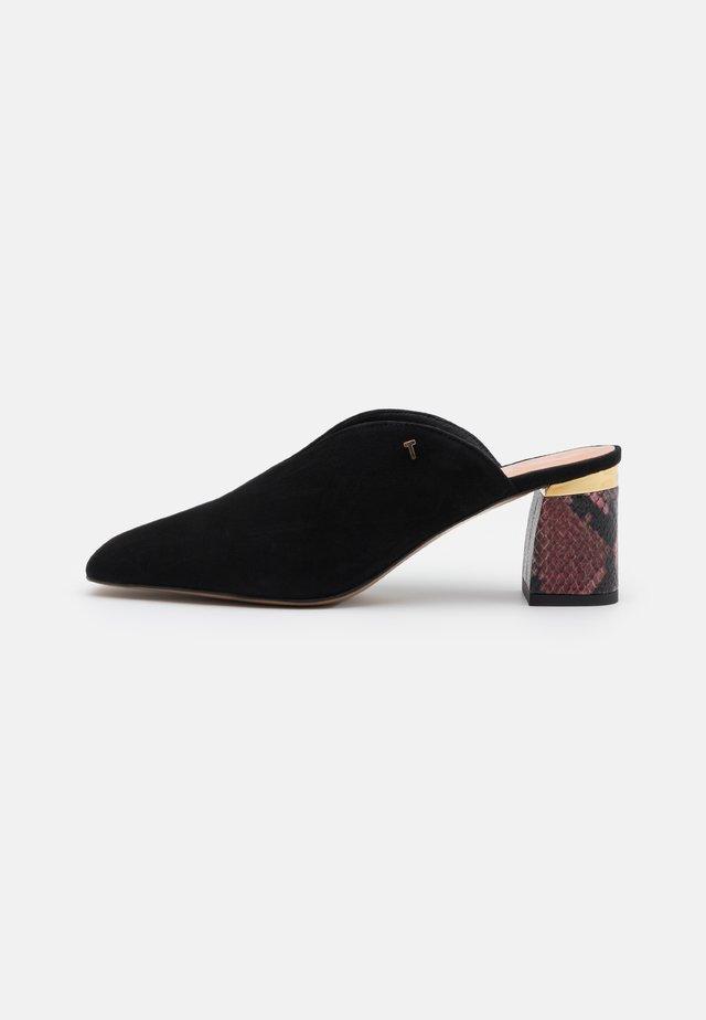 KAMIYS - Pantofle na podpatku - black