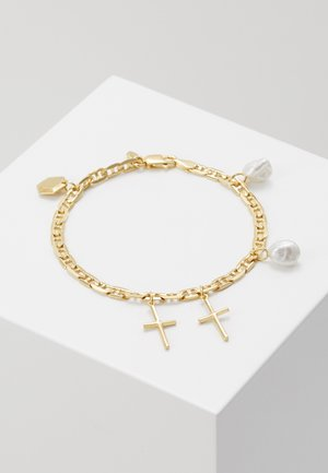 CROSS CHARM BRACELET SMALL - Náramek - gold-coloured