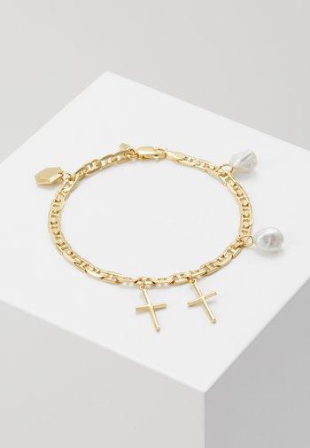 CROSS CHARM BRACELET SMALL - Bracelet - gold-coloured