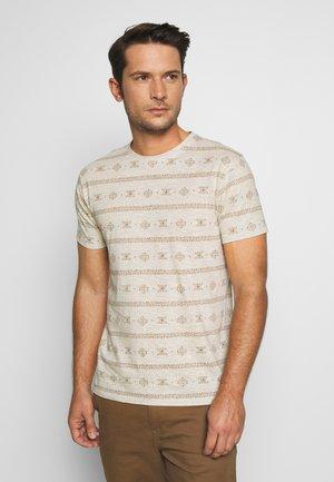 CANNES - T-shirt med print - ecru