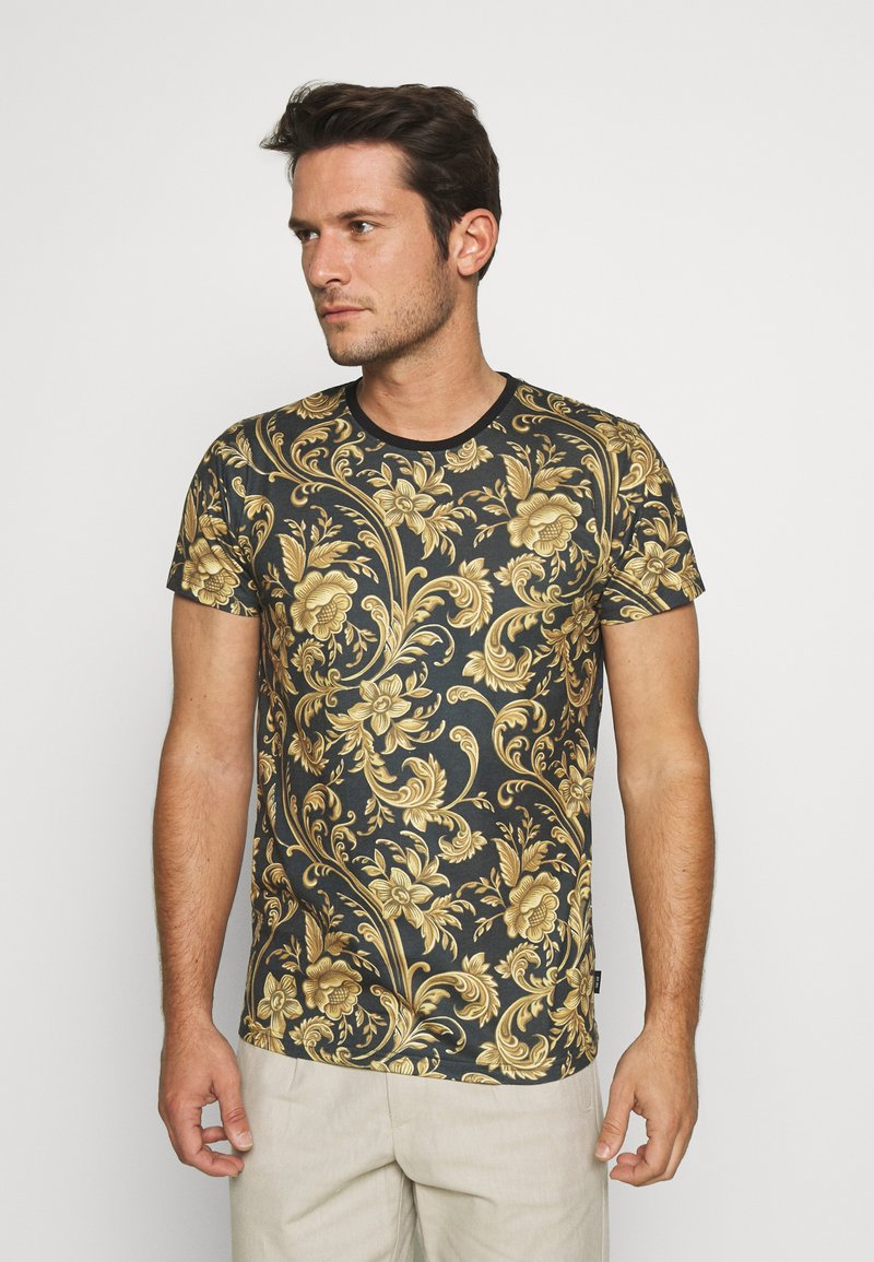 INDICODE JEANS - TOLEDO - Print T-shirt - black