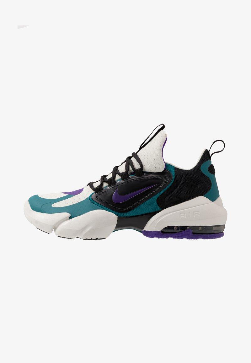 Nike Performance - AIR MAX ALPHA SAVAGE - Obuwie treningowe - light bone/black/geode teal/voltage purple