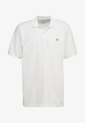 CHASE - Polo shirt - white/gold