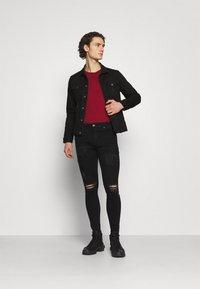 Denim Project - KASH DESTROY JACKET - Denim jacket - black - 1
