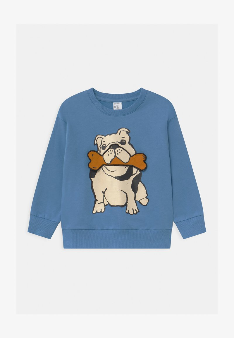 Lindex - AUTHENTIC DOG - Sweater - dusty blue