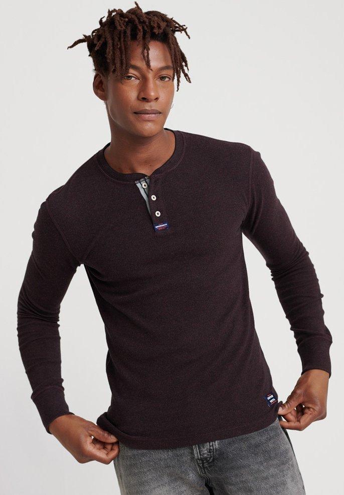Superdry - MIT LANGEN ÄRMELN  - Långärmad tröja - burgundy