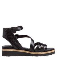 Tamaris - Ankle cuff sandals - black/metallic - 4
