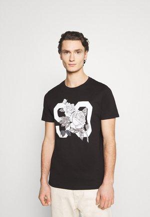 JORFASTER TEE CREW NECK - T-shirt med print - black