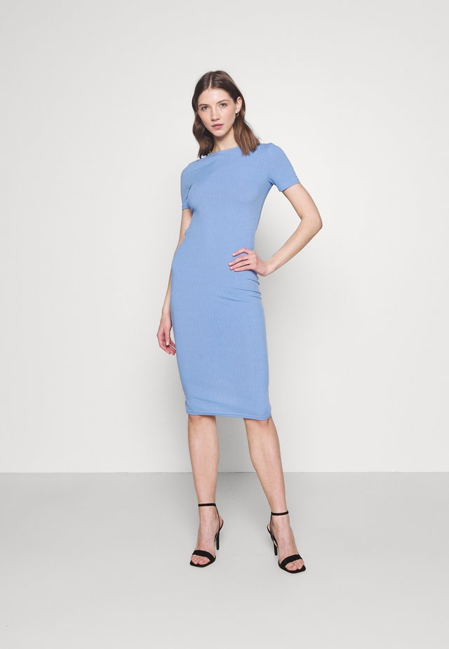 LUNA DRESS - Pletené šaty - blue