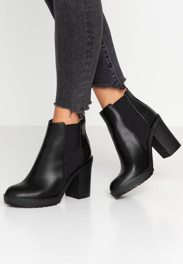 ONLBOO LOOP - Bottines à talons hauts - black