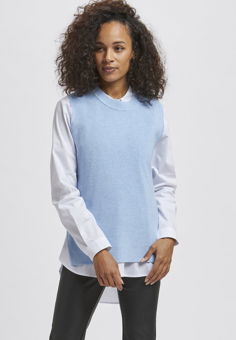 Kaffe - Top - chambray blue melange