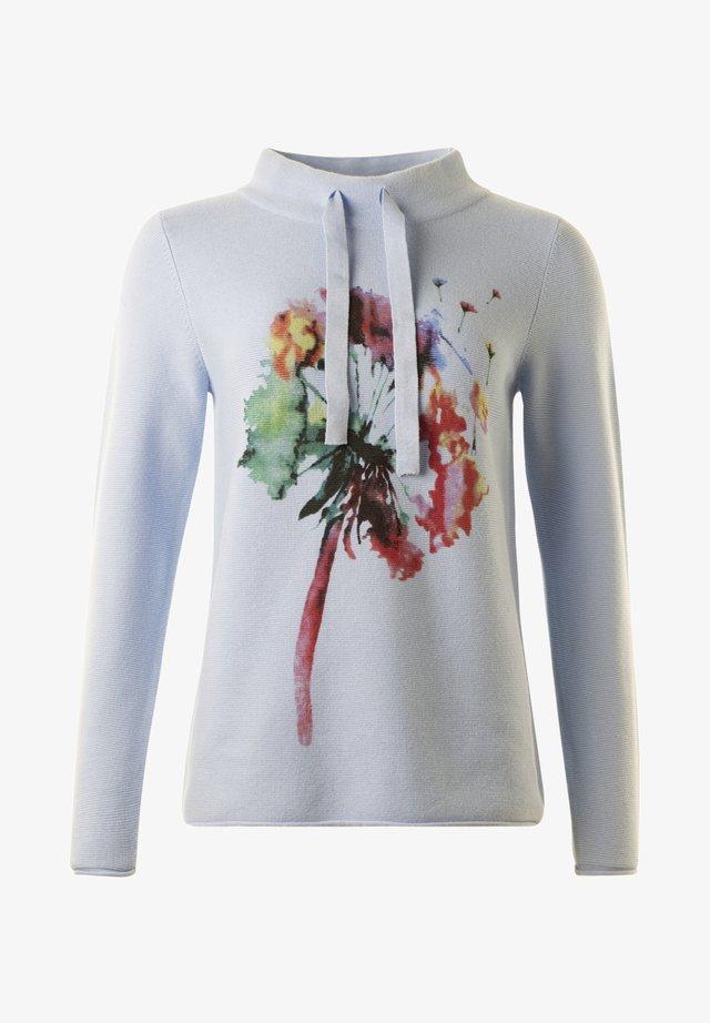 Stickad tröja -  lightblue