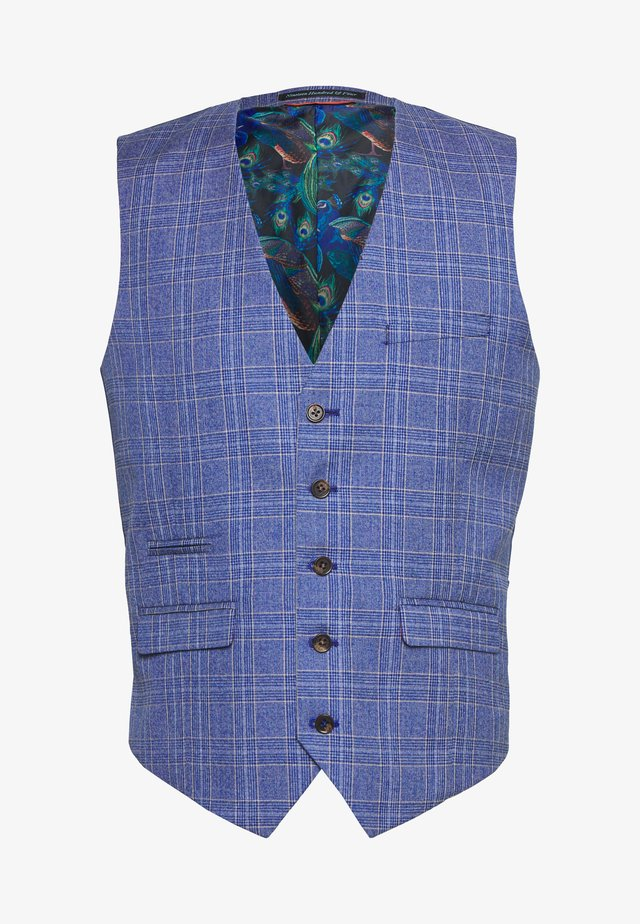 BLY JASPE OVER CHECK COAT SLIM FIT - Gilet elegante - mid blue