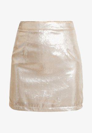Mini skirt - beige