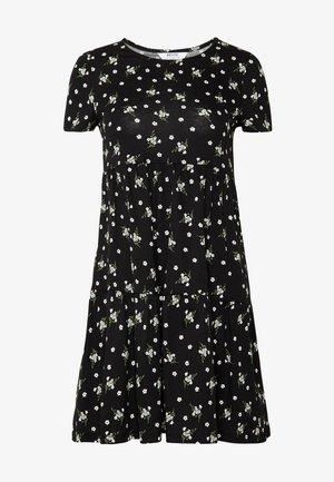DITSY SMOCK DRESS - Vestido ligero - black