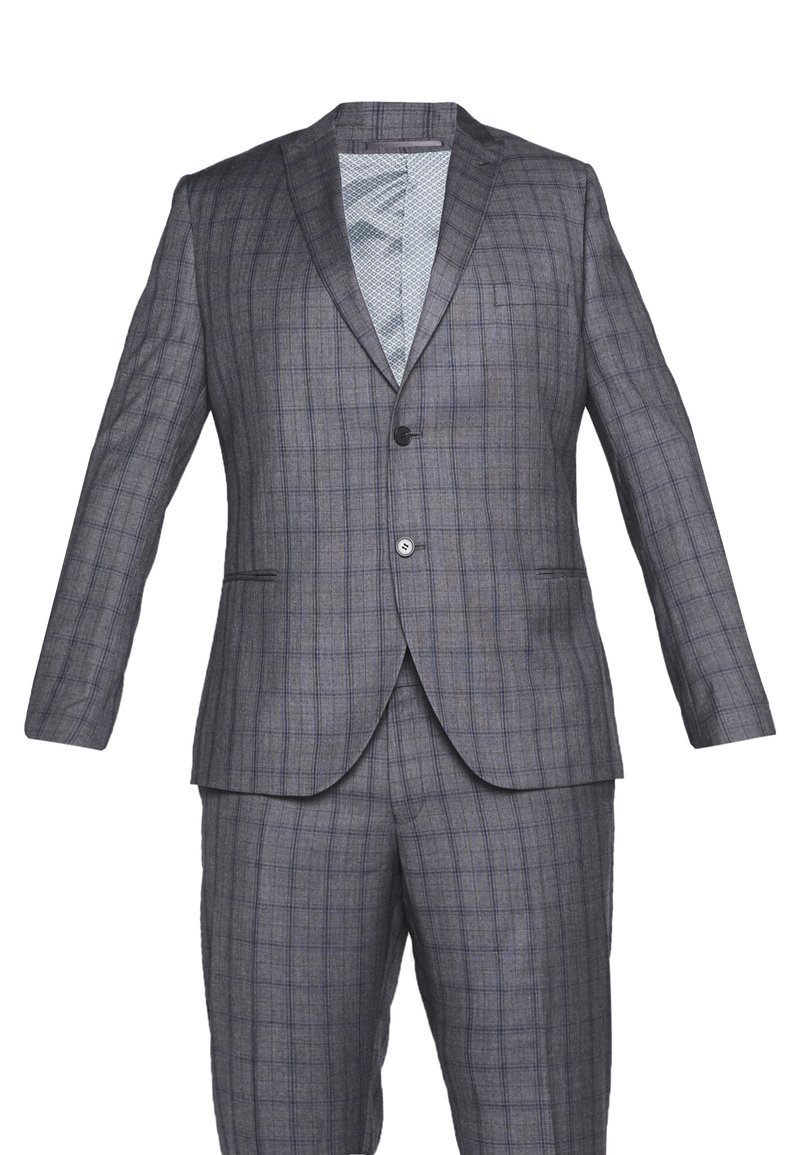 Isaac Dewhirst - CHECK SUIT PLUS - Costume - grey