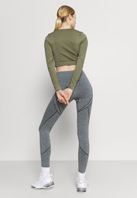 NU-IN - SEAMLESS TWO TONE HIGH WAIST LEGGINGS - Leggings - grey - 3