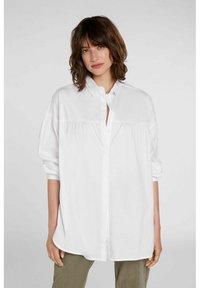 Oui - Button-down blouse - optic white - 0