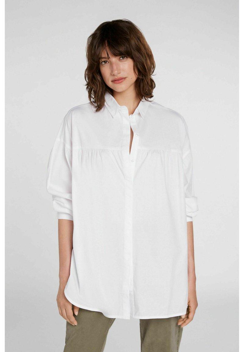 Oui - Button-down blouse - optic white