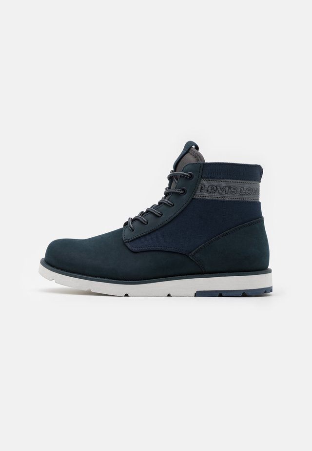 JAX XLITE - Lace-up ankle boots - navy blue