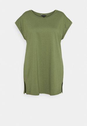 PLAIN LONGLINE TEE - Basic T-shirt - khaki