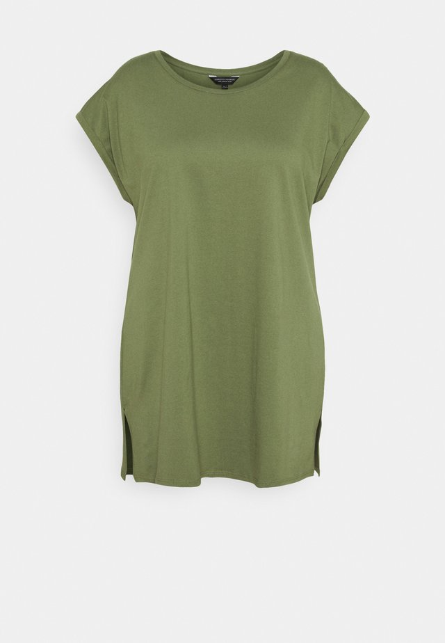 PLAIN LONGLINE TEE - T-shirt basic - khaki