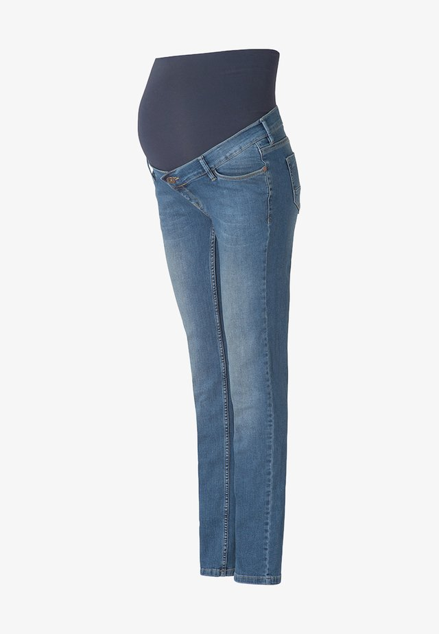 BEAU - Jeans a sigaretta - mid bleu