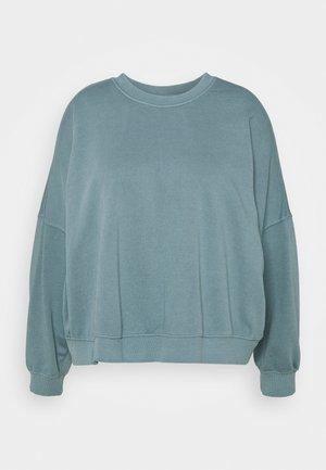 HARPER CREW NECK PULLOVER - Sweatshirt - mid blue