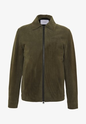 ZIP UP JACKET - Kožená bunda - chard green
