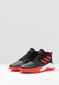 adidas Performance - OWNTHEGAME WIDE - Sports shoes - core black/active red/footwear white - 2