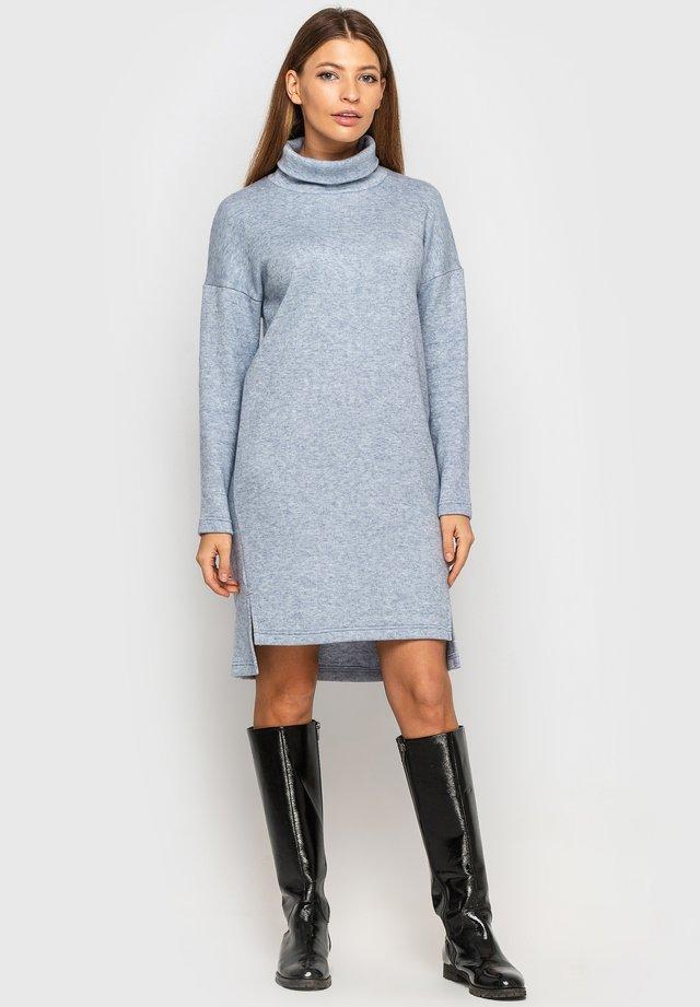 Gebreide jurk - blau