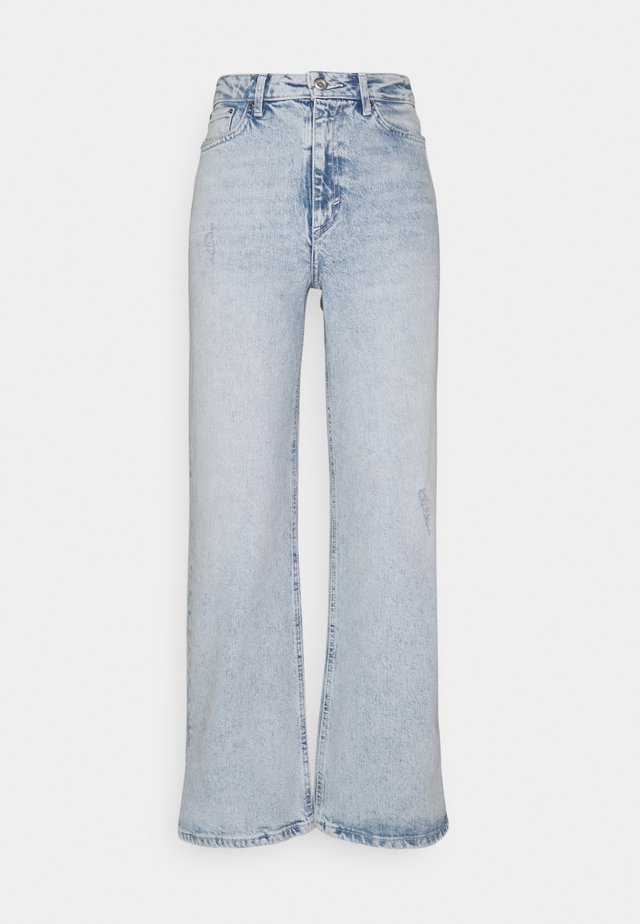 PCSUI  - Flared jeans - light blue denim