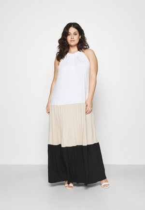 TIER COLORBLOCK MAXI - Jersey dress - dune