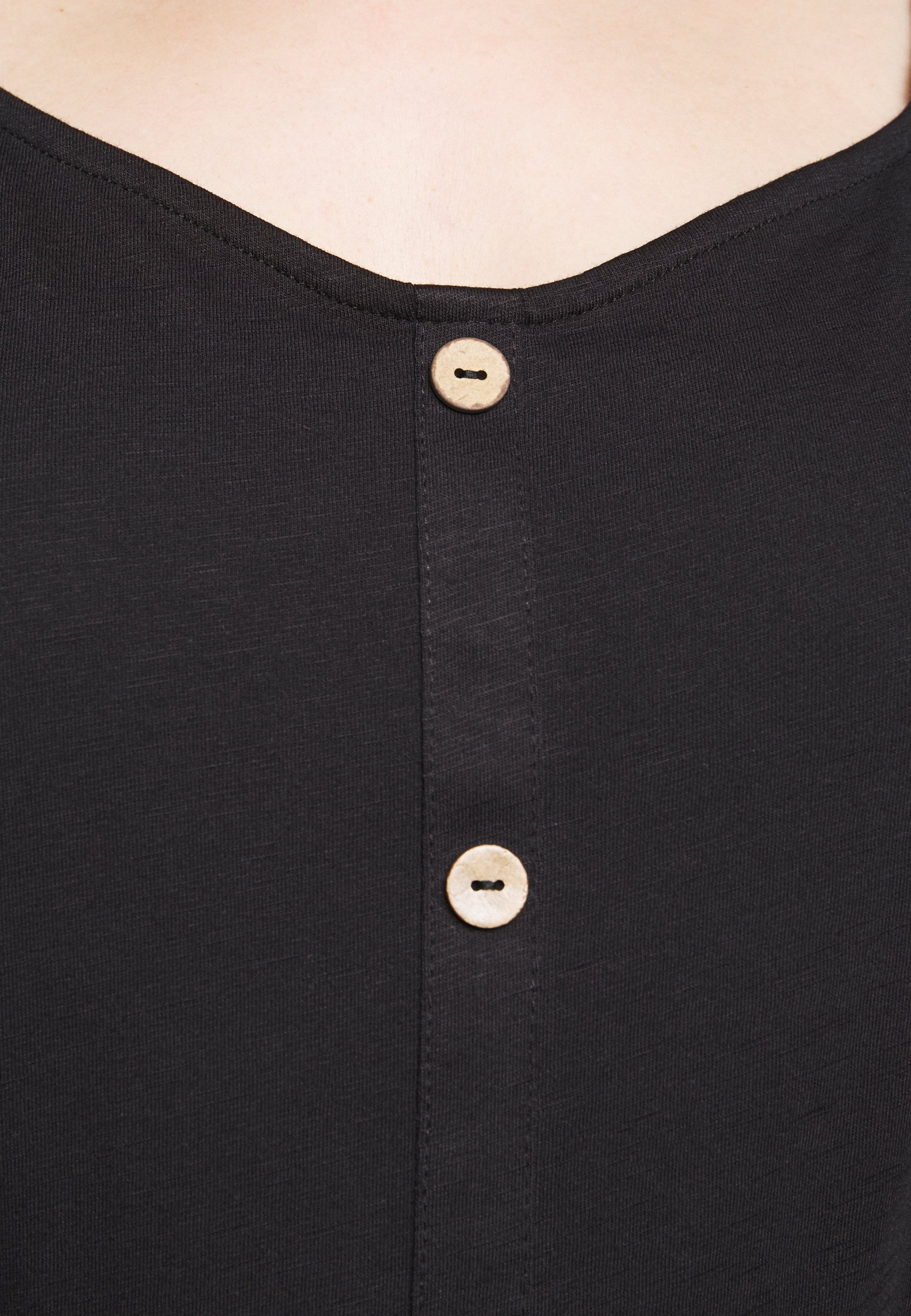 Evans Button Square Neck - Bluser Black/svart