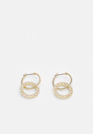 EXALTA HOOP - Earrings - gold-coloured/white