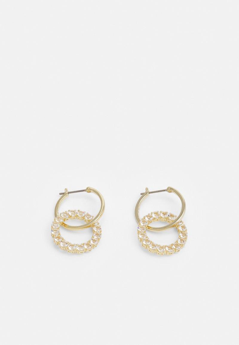Swarovski - EXALTA HOOP - Boucles d'oreilles - gold-coloured/white
