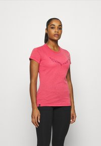 Salewa - SOLID TEE - Print T-shirt - virtual pink melange - 0