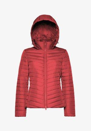 Winterjas - red dahlia