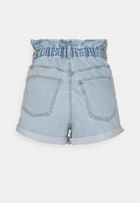 Gina Tricot - PAPERBAG - Jeans Shorts - pale blue - 6