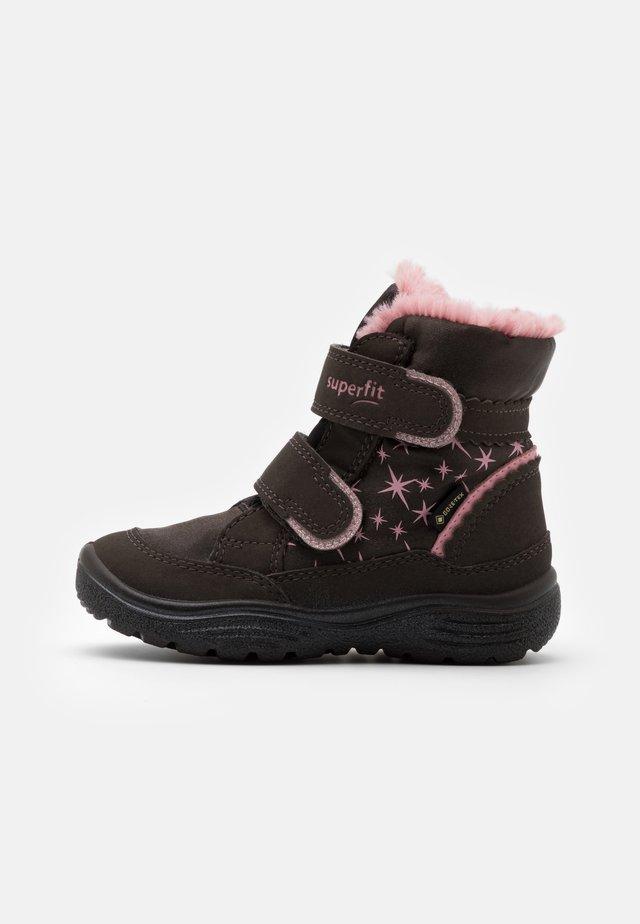 CRYSTAL - Winter boots - braun/rosa