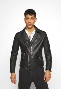 AllSaints - BONDI BIKER - Veste en cuir - black - 0