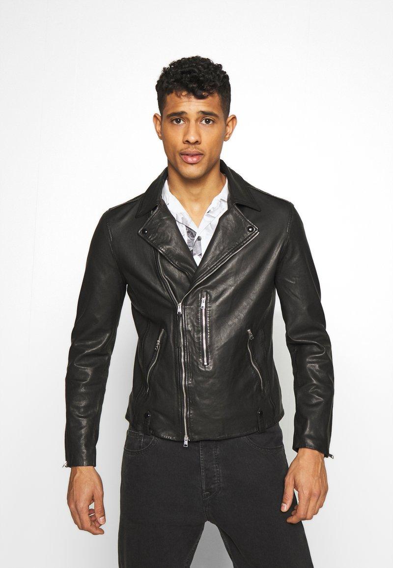 AllSaints - BONDI BIKER - Veste en cuir - black