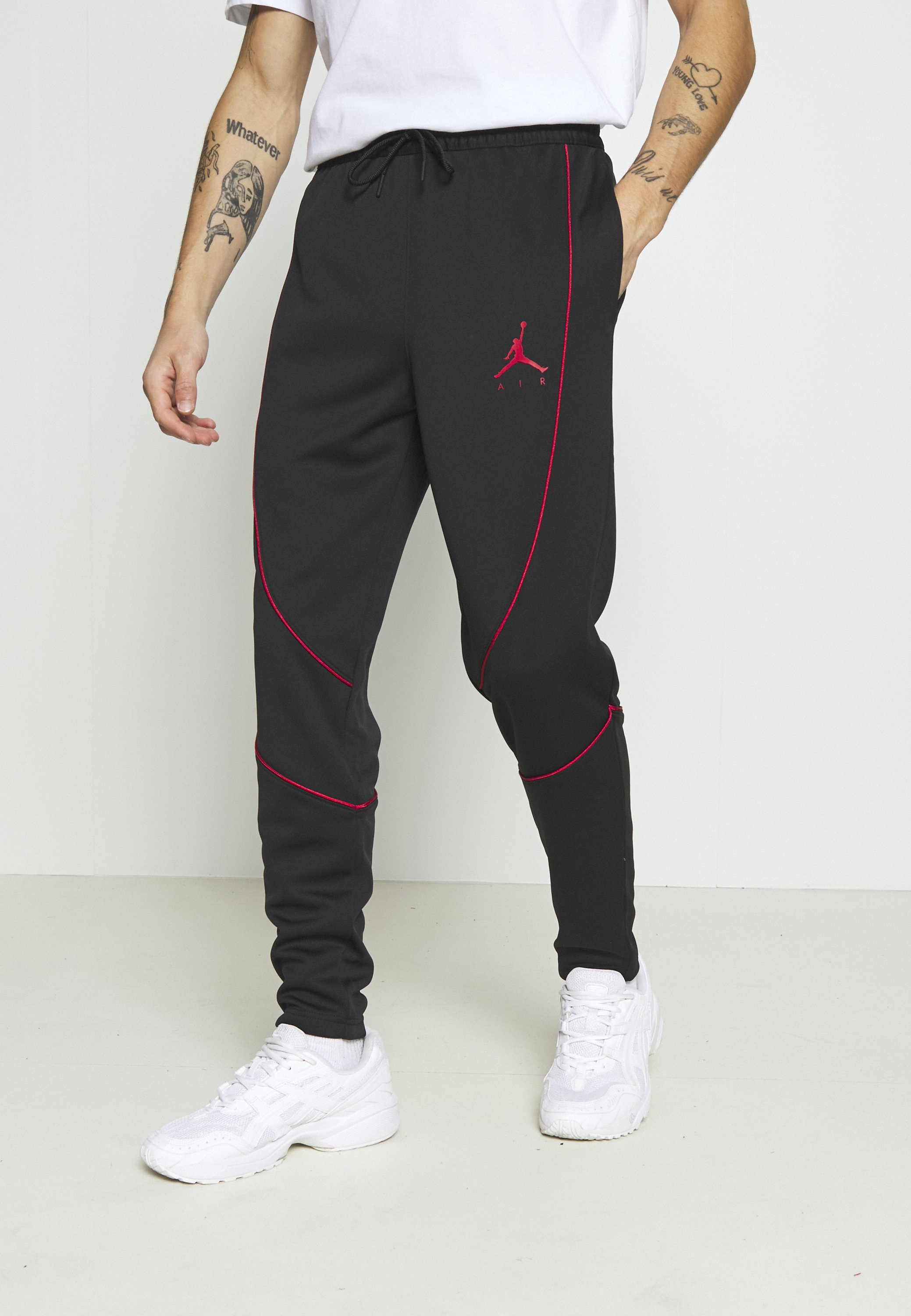 Order High Quality Men's Clothing Jordan JUMPMAN AIR SUIT PANT Tracksuit bottoms black/gym red Vl5O7BLKK wyEMu7HlW