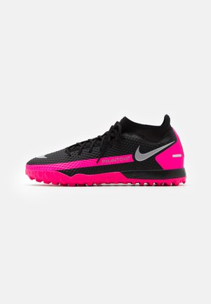 PHANTOM GT ACADEMY DF TF - Astro turf trainers - black/metallic silver/pink blast