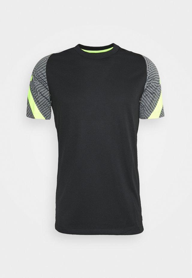 DRY STRIKE - Print T-shirt - black/smoke grey/black/volt