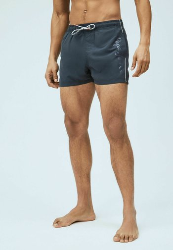 NEW BRIAN - Swimming shorts - washed schwarz