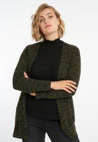 MS Mode - WITH ZEBRA PRINT - Cardigan - khaki - 0