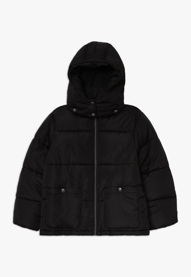 STEHKRAGEN KAPUZE - Zimní bunda - schwarz