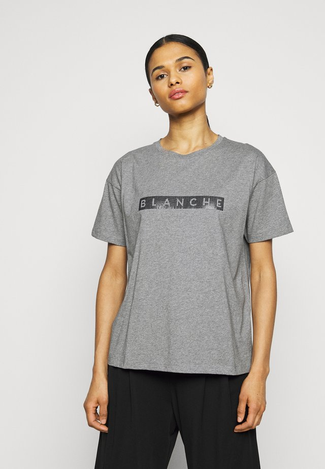 MAIN BLOCK - T-shirt print - grey melange
